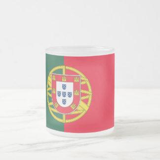 Portugal flag quality frosted glass coffee mug