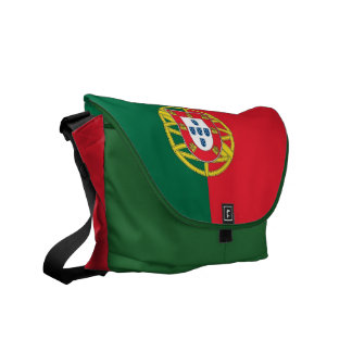 Portugal Flag Rickshaw Messenger Bag