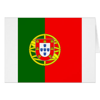 Portugal flage design card