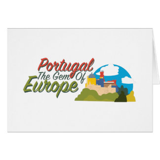 Portugal Gem Of Europe Card
