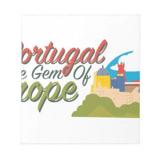 Portugal Gem Of Europe Notepad