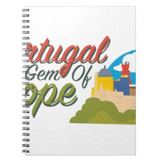 Portugal Gem Of Europe Spiral Note Book