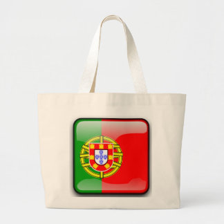 Portugal glossy flag large tote bag