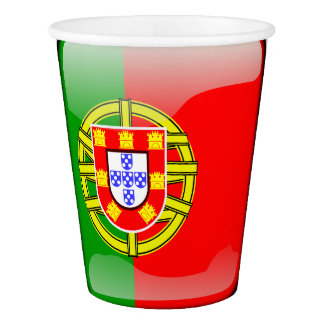 Portugal glossy flag paper cup