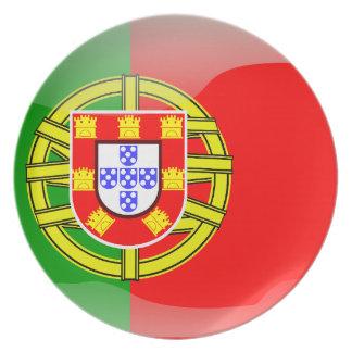 Portugal glossy flag plate