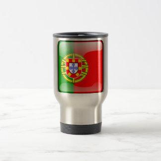 Portugal glossy flag travel mug