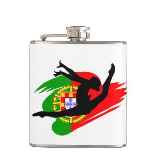Portugal Gymnast Flask