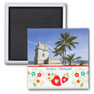 Portugal in photos - Belém Tower Square Magnet