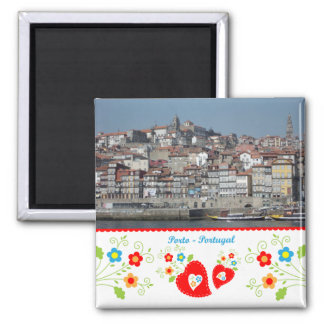 Portugal in photos - Oporto by the river Square Magnet