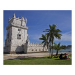 Portugal, Lisbon. Belem Tower, a UNESCO World 2 Poster