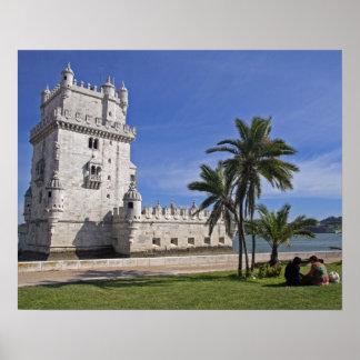 Portugal, Lisbon. Belem Tower, a UNESCO World 2 Poster