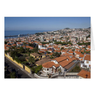 Portugal, Madeira Island, Funchal. Cable car Greeting Card