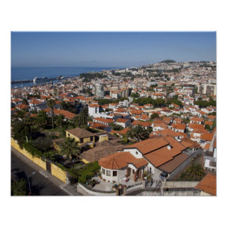 Portugal, Madeira Island, Funchal. Cable car Poster