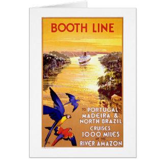 Portugal Madeira North Brazil Vintage Poster Card