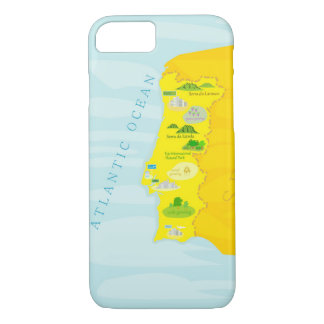 Portugal map iPhone 7 case