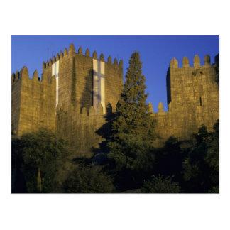 Portugal, Minho, Guimaraes. Castelo de Sao Postcard