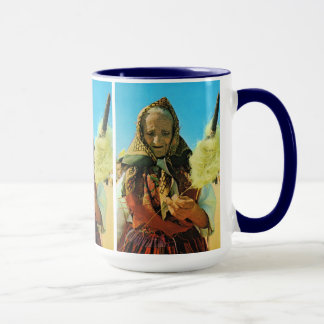 Portugal, Minho, old lady spinning Mug