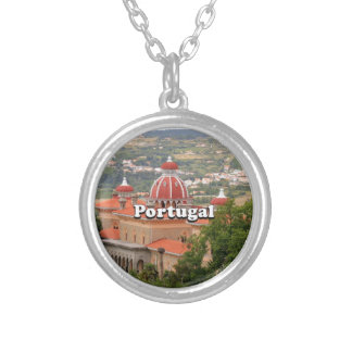 Portugal: Monserrate Palace, near Sintra Silver Plated Necklace