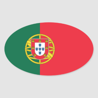 Portugal National Flag Oval Sticker