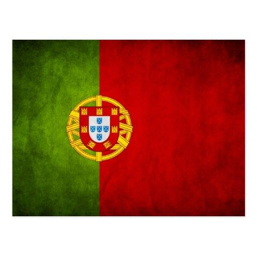Portugal national flag post card