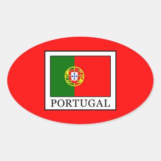 Portugal Oval Sticker