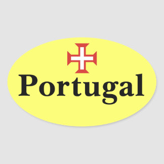 Portugal* Oval Sticker with Portuguese Cross