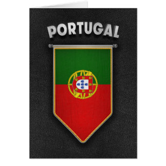 Portugal Pennant with high quality leather look Card
