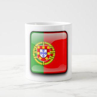 Portugal polished flag giant coffee mug