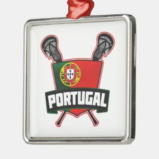 Portugal Português Lacrosse Metal Ornament