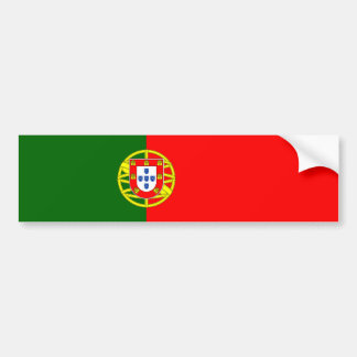 Portugal/Portuguese Flag Bumper Sticker