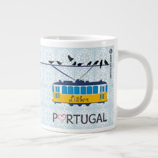 Portugal's Lisbon Tram 20 oz Coffee Mug
