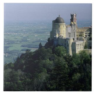 Portugal, Sintra, Pena Palace, atop Serra da Tile