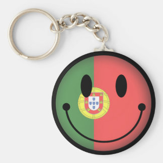 Portugal Smiley Keychain