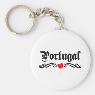 Portugal Tattoo Style Keychain