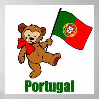 Portugal Teddy Bear Poster
