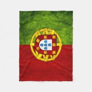 Portugal Urban Grunge Flag Fleece Blanket
