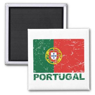 Portugal Vintage Flag Magnet