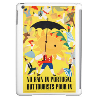 Portugal Vintage Travel Poster Restored iPad Air Cover