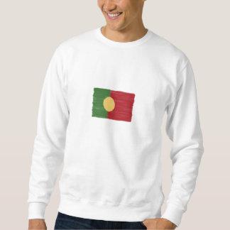 Portugal wax pencil sketched flag sweatshirt