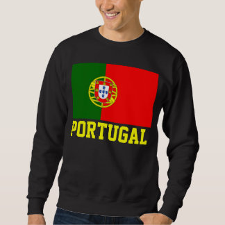 Portugal World Flag Text Sweatshirt