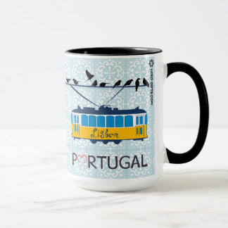 Portugal's Lisbon Tram 15 oz Coffee Mug