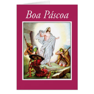 Portugese Easter, Jesus Resurrection, Religious Card