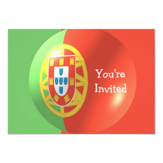 Portugese Flag With Bubble Invitation