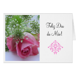 Portuguese:1 Dia da Mae/ Mother's Day Card
