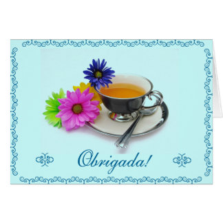 Portuguese: Agradecimento / Thank you Note Card