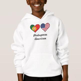 Portuguese American Flag Hearts
