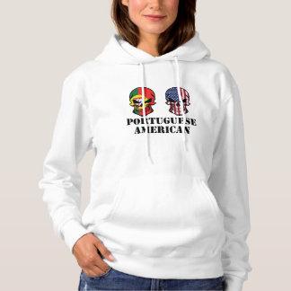 Portuguese American Flag Skulls Hoodie