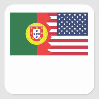 Portuguese American Flag Square Sticker
