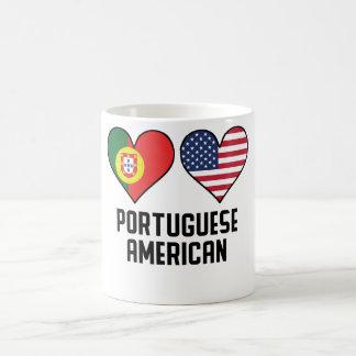 Portuguese American Heart Flags Coffee Mug