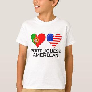 Portuguese American Hearts T-Shirt